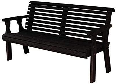 CAF Amish Heavy Duty 800 Lb Roll Back Pressure Treated Garden Bench 5 Foot