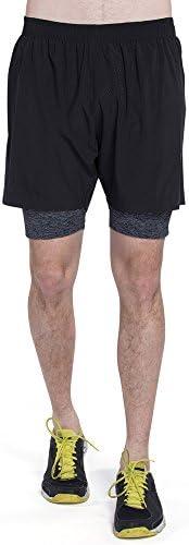 ランニングショーツ メンズ インナー付き スポーツ ショートパンツ ドライ 吸汗速乾 5インチ ストレッチ 短パン