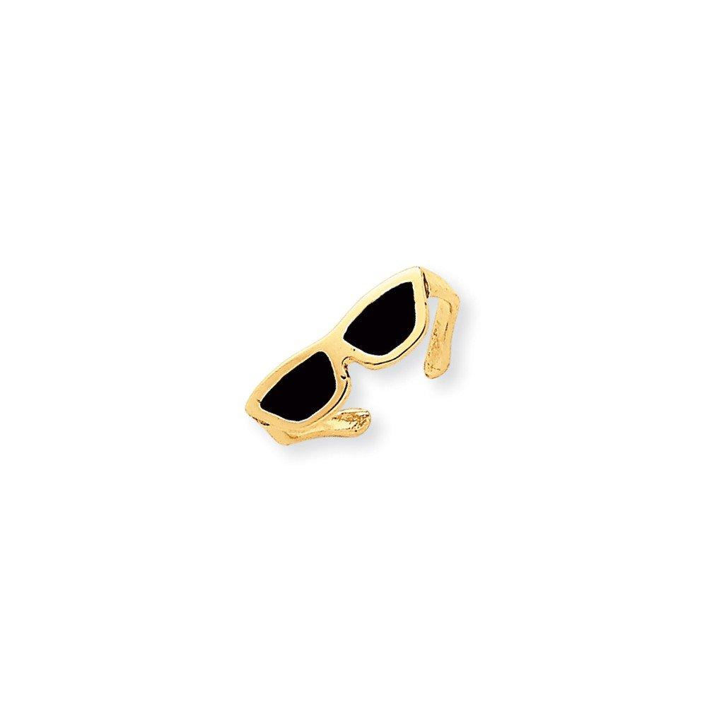 14k Enameled Sunglasses Toe Ring, Best Quality Free Gift Box by VI STAR