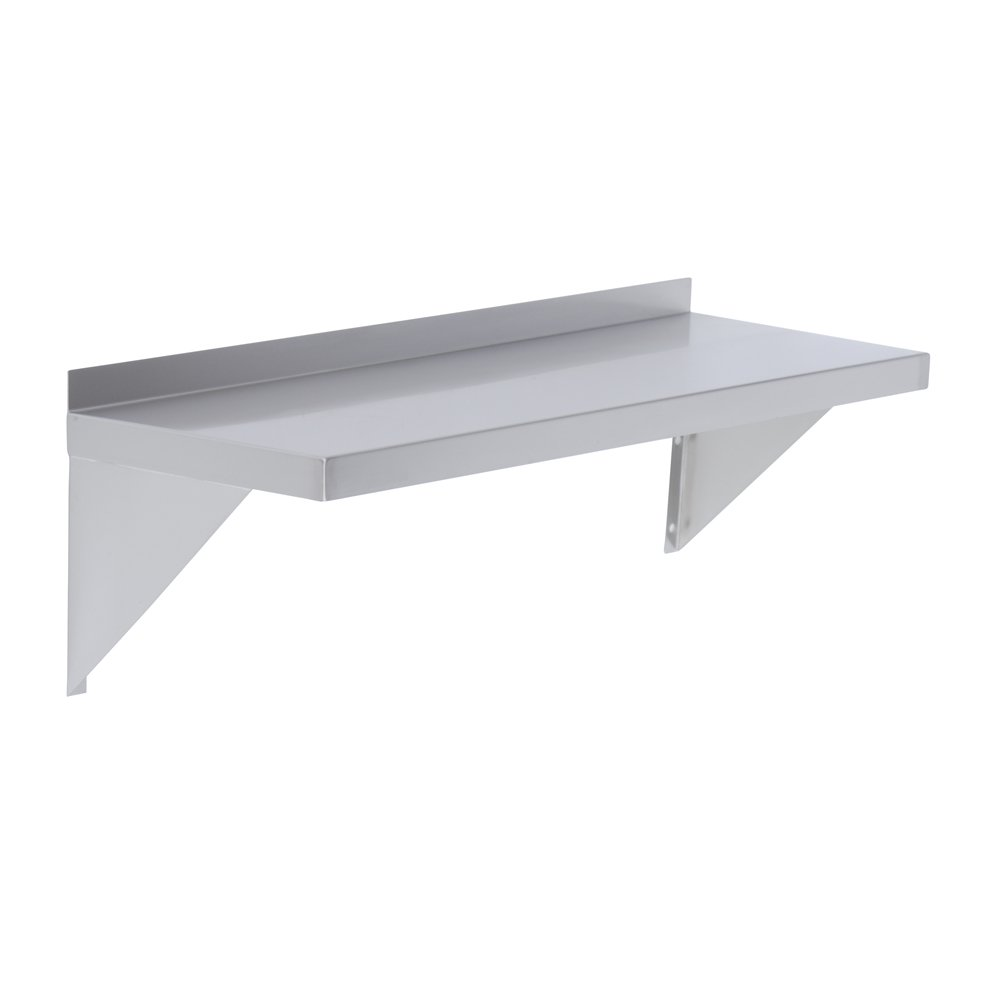 Elkay Professional Series NSF Stainless Steel Wall Shelf with Backsplash Without Mounting Hardware 24 x 12
