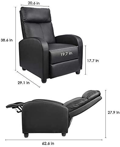 Homall Single Recliner Chair dimensions