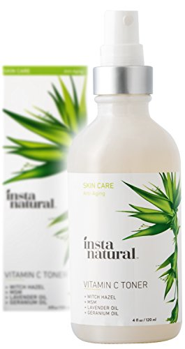 Price comparison product image InstaNatural Vitamin C Facial Toner – 100% Natural & Organic Anti Aging Face Spray – Pore Minimizer & Calming Skin Treatment Sensitive, Dry & Combination Types Prep for Serums & Moisturizers 4 OZ