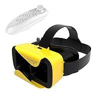 Bevifi VR casque, lunettes de réalité virtuelle 3d VR casque de jeu vidéo et micro [Nouvelle] + Télécommande sans fil Contrôleur pour iOS iPhone 7/6S Plus, Android Samsung S7Edge/S7[4.7–15,2cm téléphone intelligent]