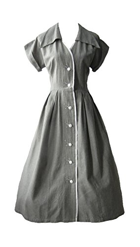 1950s Vintage Style Pin Up Rockabilly Shirt Waist Dress by Adley & Company