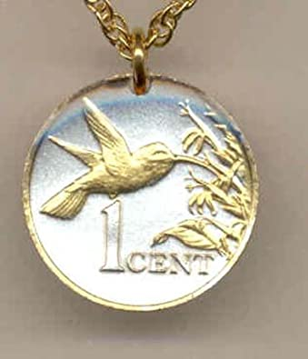 plated and trinidad gold coin republic defaultimage tobago of w hummingbird product pendant