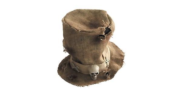 Generique - Sombrero de Copa Tela de Yute Esqueleto Adulto Halloween   Amazon.es  Juguetes y juegos 4a8430a0acc