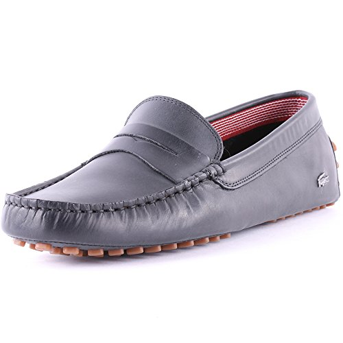 Lacoste Concours 16 Mens Leather Loafers Dark Brown 10 US
