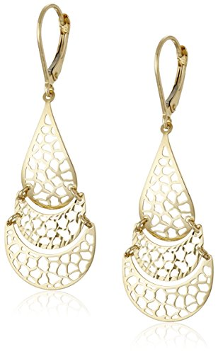 Yellow Gold Chandelier Dangle - 6