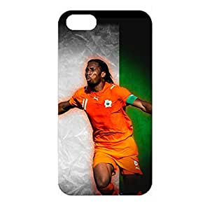 Customized The FA Premier League Design Chelsea Football Club Phone Case Unusal 3D Hard Back Case Cover for Iphone 4/4s with Didier Drogba Symbol