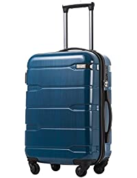"Luggage Expandable(only 28"") Suitcase PC+ABS Spinner Built-in TSA Lock 20in 24in 28in Carry on"