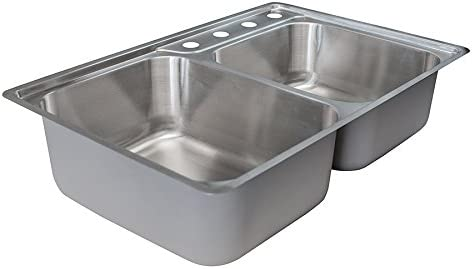 Franke EVCAG904-18 Sink, 18 gallon, Satin Stainless Steel