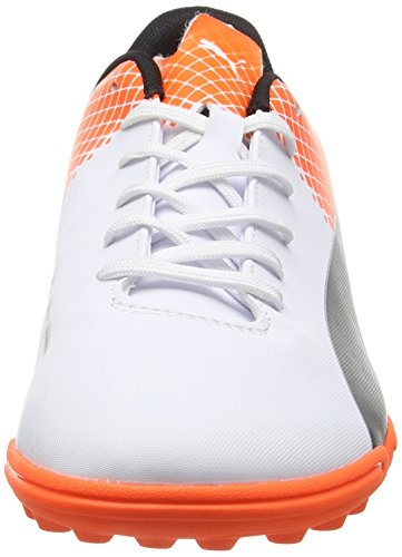 Puma evoSpeed 5,5 TT Botas de Fútbol, Puma/Black/White Puma Shocking Orange, 10,5