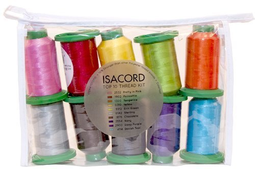 ISACORD 40-10 spool assortment by Isacord