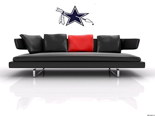 Wall Sticker Decal American Football NFL Team Logo Redskins Vs Cowboys Rivalry Gm1187 -