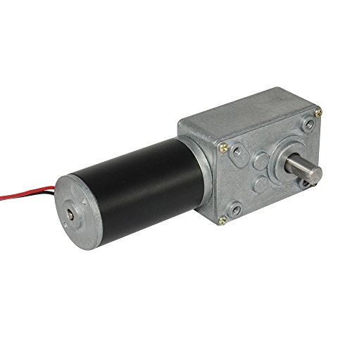 TSINY Small High Torque 12 Volt Reversible 35 RPM DC Worm Gear Motor for BBQ Drive Replacement