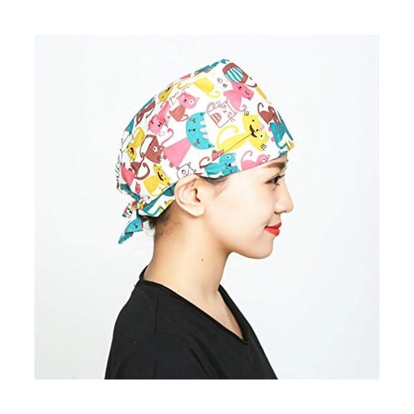 2 piezas Gorra de trabajo absorbente de sudor Algodón puro Sombrero de belleza para hombres mujeres absorción transpirabilidad suave y absorción de sudor Sombrero de belleza 8