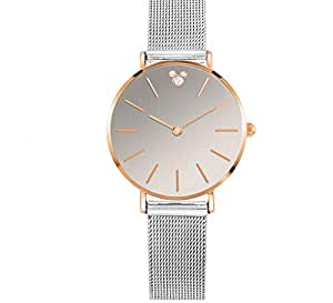 Reloj para mujer 2018 New Schoolgirl Steel Strip Waterproof Trend Trend