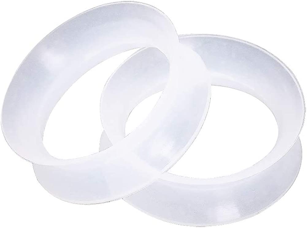 Sold as a Pair Pierced Owl Clear Ultra Thin Double Flared Silicone Saddle Tunnel Plugs