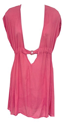 Raya Sun V-Neck Wood Ring Cover Up Berry SM