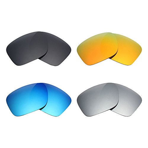 7a6f53ed51 Mryok 4 Pair Polarized Replacement Lenses for Oakley Holbrook Sunglass -  Stealth Black Fire Red Ice Blue Silver Titanium - Buy Online in Oman.