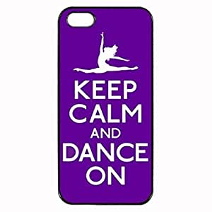 Keep Calm and Dance Purple Ballet Unipue Custom Image For Iphone 5C Phone Case Cover Diy pragmatic Hard For Iphone 5C Phone Case Cover High Quality Plastic Case By Argelis-sky, Black Case New