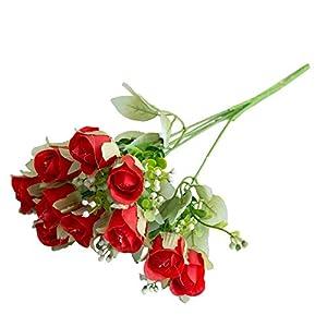 MARJON FlowersArtificial Flowers, Fake Flowers Silk 10 Heads Rose Lifelike Flower Bouquets Gifts Wedding Party Kitchen Home Decor 23