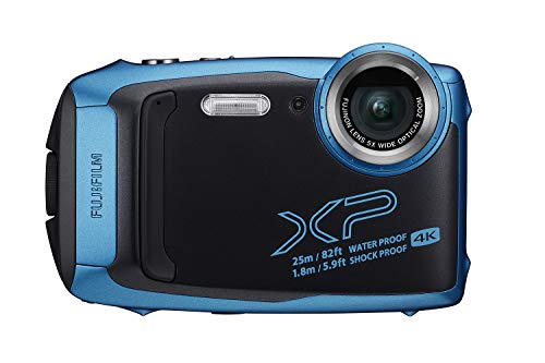 Fujifilm FinePix XP140 Waterproof Digital Camera w/16GB SD Card - Sky Blue (Best Camera For Underwater Photography 2019)