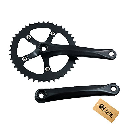 OLizee Multicoloured Single Speed Fixie Road Track Bike Crankset 44T 170mm(Black) ()