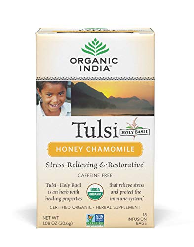 (Organic India Tulsi Tea, Honey Chamomile, 25 Tea bags)