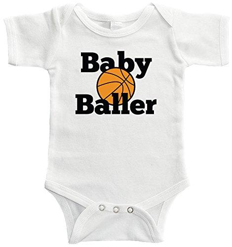 Starlight Baby Baby Baller Bodysuit (0-3 Months, White)