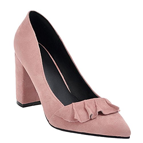 MissSaSa Damen Pointed Toe Step High Heel Pumps Pink