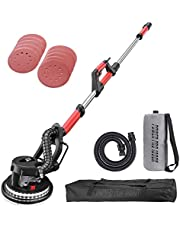 POWER PRO 1090X Electric Drywall Sander - Variable Speed 500-1800rpm, 750 Watts, with Automatic Vacuum System, LED Light, and Storage Bag (1090X)