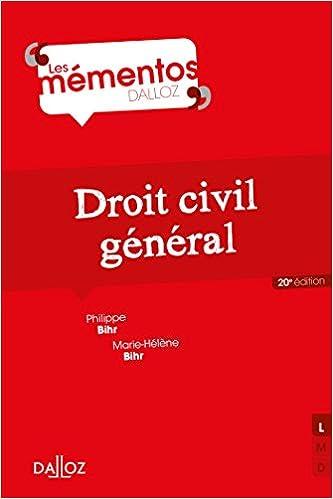Droit civil général - 20e éd.