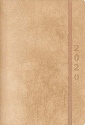 ReLeather Daily natur 2020: Terminplaner groß. DIN A5 Termin-kalender mit Vintage-leder und Tageskalendarium