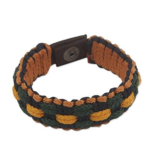 NOVICA Brass Men's Wristband Bracelet, 8.75'' 'Forgiveness' by NOVICA