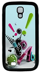3D Abstract Art Custom Designer Samsung Galaxy S4 Case and Cover - TPU - Black