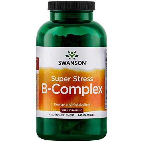 (Swanson Super Stress Vitamin B-Complex with Vitamin C 240 Caps)