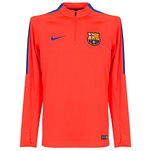 Nike Men's Barcelona Drill Top Quarter-ZipSoccer Jacket (X-Large) Bright Crimson