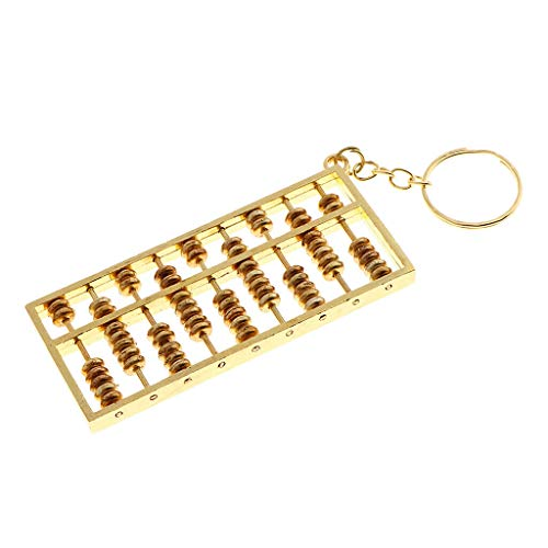 NATFUR 9 Grids Exquisite Abacus Key Chain Pendant Jewelry Making for DIY Necklace Novelty for Women Perfect Elegant Pretty Novelty Great Beauteous Goodly
