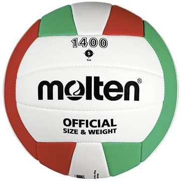 Molten v5 C1400 Voleibol pelota tamaño 5, color blanco/verde/rojo ...