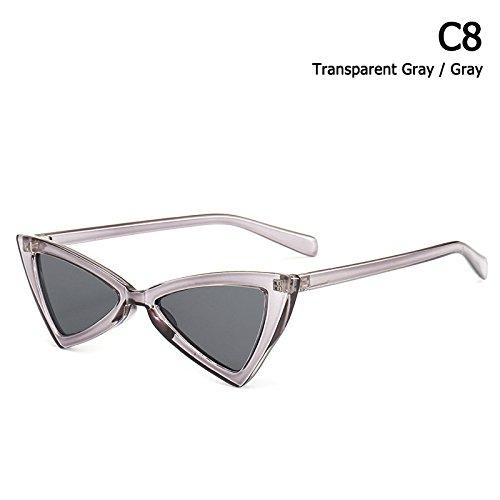 Estilo Solnuevo Gafas C12 Mujer Gafas C8 Sol De Limotai Sol Cat Eye De De Triangular Gafas 0tSqn