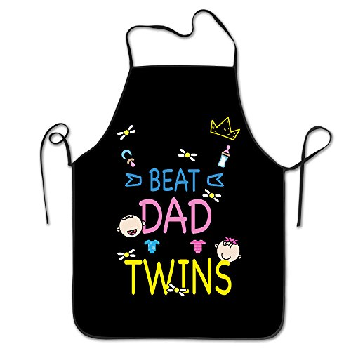 Bib Apron For Women Men Adults Waterproof Natural No.1 Dad Father's Day New (Ftd Natural)