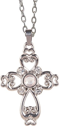 AngelStar 13852 Magnifier Pendant, Heart Cross