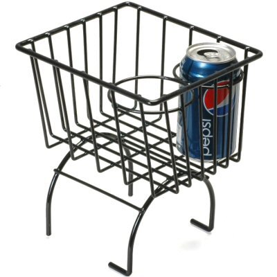 Black Retro Looking Wire Storage Basket Cup Holder Fits All Vw Beetle, Thing, Karmann Ghia, Or Manx