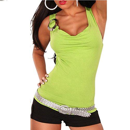nummer-zwoelf - Camiseta sin mangas - Básico - Sin mangas - para mujer Lind verde