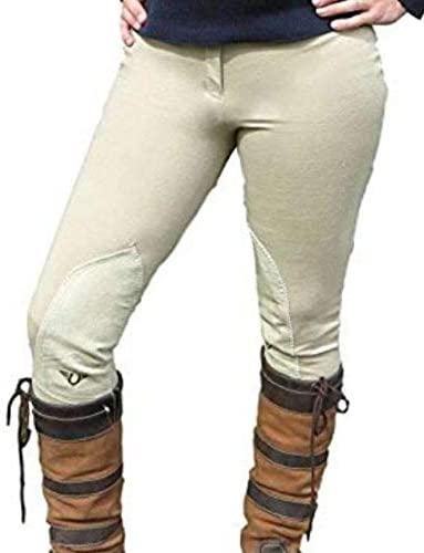 TuffRider (タフライダー) 女の子用 初心者向け ローライズ さっと履ける乗馬用ズボン ブリーチ