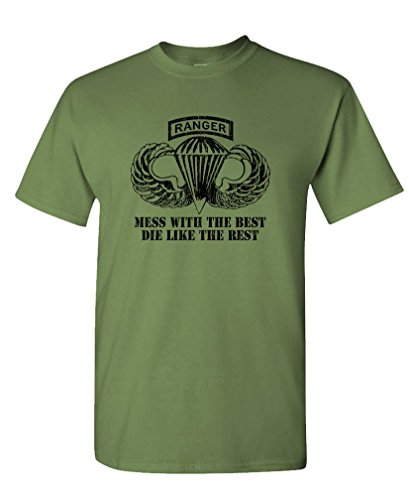 Airborne Ranger - Army Special Forces Fight - Mens Cotton Tee, XL, Military]()