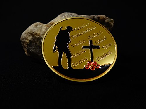 WWI World War 100th Anniversary WW1 Challenge Gold Plated Coins by Axis ()