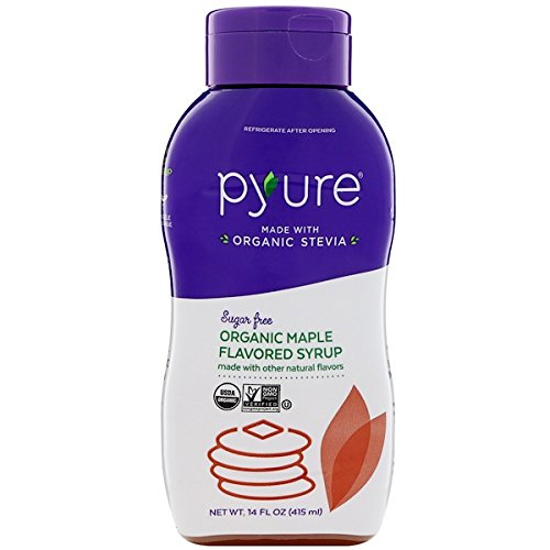Organic Maple Flavored Syrup, Sugar Free, Low Net Carbs, Pancake Syrup, Keto, 14 Fluid Ounce