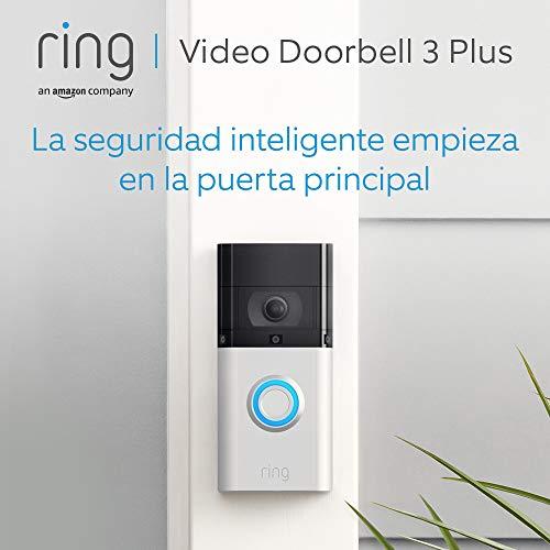 Ring Video Doorbell 3 Plus | Vídeo HD, detección de movimiento avanzada, vista previa de 4 segundos e instalación fácil…